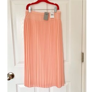 J Crew Factory Pleated Midi Skirt